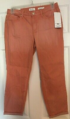 NEW JESSICA SIMPSON CANYON-PINK WOMEN/'S CROP SKINNY JEANS SOFT STRETCH V1