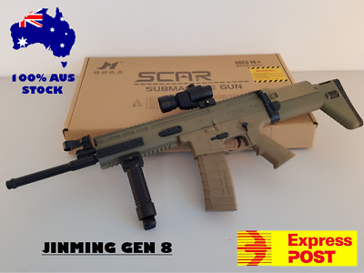 Jinming Gen 8 Nylon Scar V2 Water Gel Blaster Water Toy Mag Fed 100% Au Stock