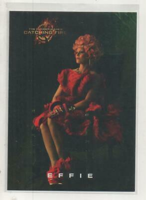 """The Hunger Games: Catching Fire DOUBLE-SIDED Promo Trading Card """"Effie"""""""