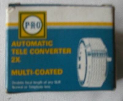 Pro Multi Coated Auto Tele Converter 2X for PENTAX-S SLR Lens Made in Japan