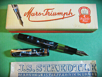vtg Mars Triumph J.S. STAEDTLER New Old Stock in Original Box paper Fountain Pen