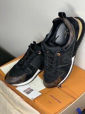1ed9fd8d209e1 SOLD OUT Auth LOUIS VUITTON RUN AWAY WOMENS SNEAKERS BLACK SUEDE Sz 40 US  9.5