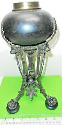 ANTIQUE VICTORIAN ERA 1860s FRENCH EMPIRE NAPOLEON 111 OLD CASSOULET OIL LAMP AF