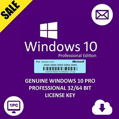 Windows 10 Pro Key Professional Win 10 Activation License Code Retail