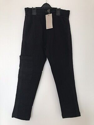 Mango Boys Black Jogger Trousers 7-8 Years With Pockets On Side BNWT