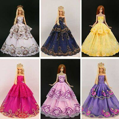Princess Wedding Dress Noble Party Gown For Girl Doll Accessories Fashion Outfit