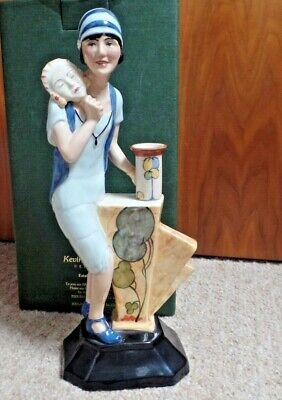 Ltd Ed Kevin Francis Figurine - Clarice Cliff Art Deco Figure - Boxed