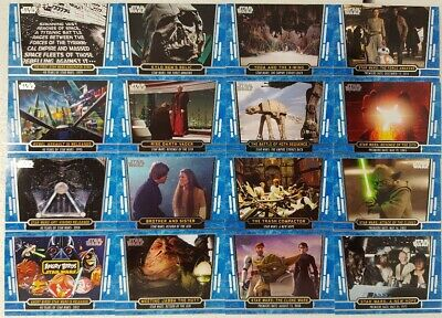 STAR WARS 40th ANNIVERSARY Blue Parallel Card Lot of 24 topps 2017