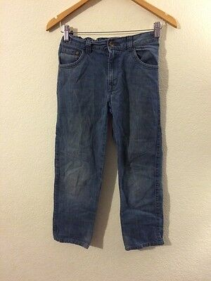 Indigo M&S Jeans Denim Trousers Adjustable Waist Boys Age 11 Years <R4493