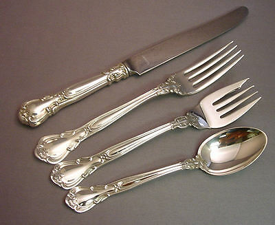 BUTTERCUP-GORHAM STERLING 4 PIECE DINNER SIZE PLACE SETTING S -MODERN