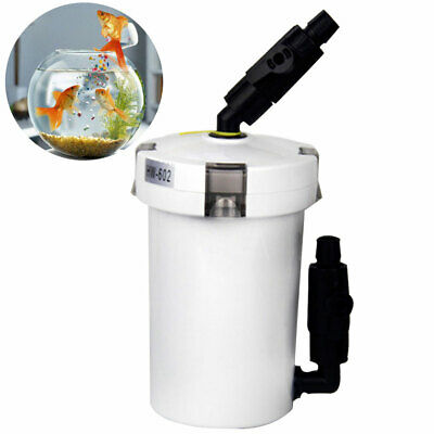 6W 400L/h External Canister Filter Table Top Fish Tank Water Purifying Aquarium