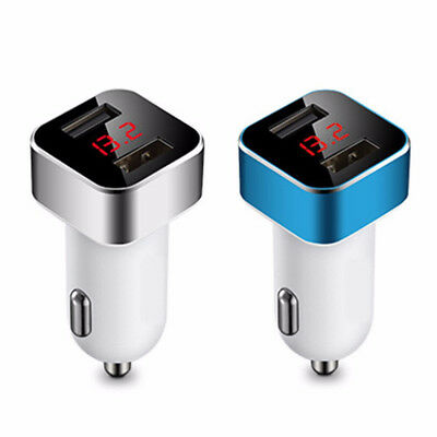 Dual USB 12V-24V 3.1A Mobile Phone Car Charger Adapter LED Display Fast Charging