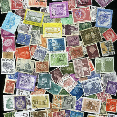 Worldwide Collection Lot 100 Stamps Off Paper Many Countries ! ~DIFFERENT SHEETS