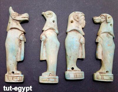 Ancient Egyptian Antiques Rare 4  Amulets Egypt Faience Stone 1816 BC