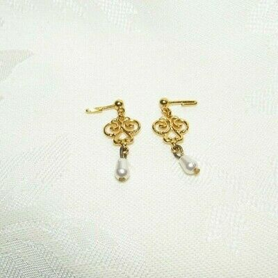 Barbie Lady Camille Faux Gold Faux Pearl Earrings Accessory For Doll
