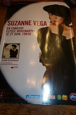 SUZANNE VEGA - Affiche concert / French tour poster !!! BEAUTY & CRIME !!!