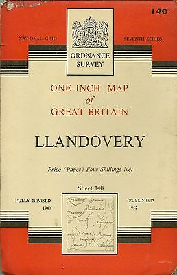 Ordnance Survey Map No 140 LLANDOVERY - 1952
