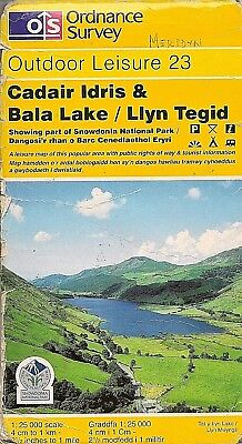 Ordnance Survey Outdoor Leisure Map 23 CADAIR IDRIS/LLYN TEGID 1998