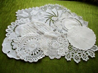 Vintage/antique Mats-Crochet/embroidery/lace-Col.10-White