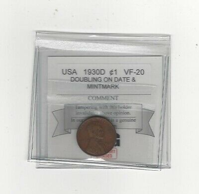 1930D USA, Lincoln Wheat, Small One Cent, Doubling Date / MM