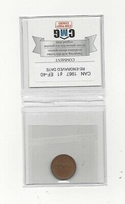 **1967 Re-engraved 1967** Coin Mart Graded Canadian Small One Cent, **EF-40**