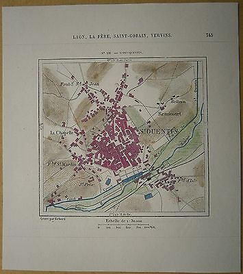 Map Of Saint Quentin France.World War I Map French Front St Quentin To St Mihiel 1914 1918