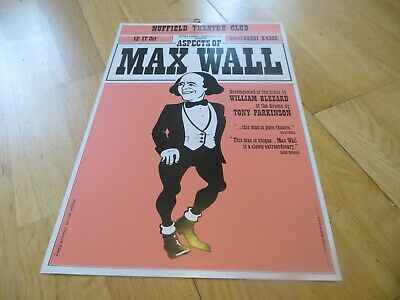 Aspects Of Max Wall Poster, Nuffield Theatre Club