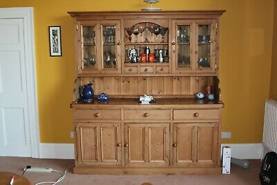 tall pine triple section welsh dresser. collection only