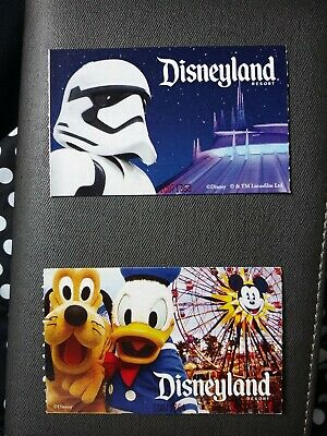 Two Disneyland park tickets- peak time, single park 1-day