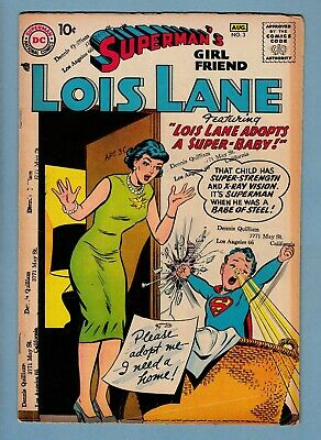 Superman's Girlfriend Lois Lane # 3 Gd (2.0)  Scarce 10 Cents Dc - 1958