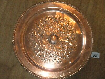 Hand Beaten Vintage Copper Charger