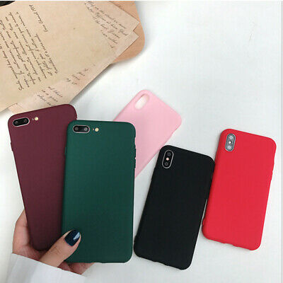 Silicone Shockproof Phone Case TPU Soft Cover for iPhone 7 8 Plus X XR XS Max
