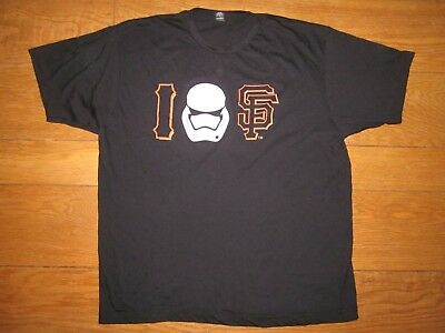 SF Giants Star Wars Storm Trooper SS T-Shirt, Black/White, Medium - BNWOT