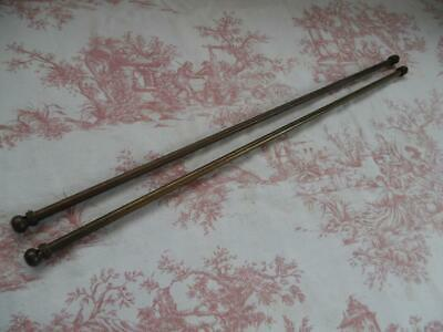 Pair Of Vintage French Cafe Net / Curtain / Tapestry Poles-Extending