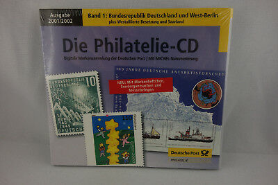 Philatelie-CD 2001/2002 Band 1: BRD West-Berlin Westalliierte Besatzung Saarland