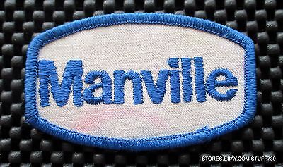 """MANVILLE EMBROIDERED SEW ON PATCH NEW JERSEY UNIFORM 3 1/2"""" x 2"""""""