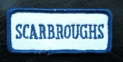 Scarbroughs Embroidered Sew On Only Patch Company Advertising Uniform