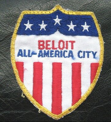 Beloit All American City Embroidered Sew On Only Patch  Wisconsin