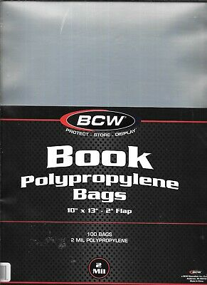 (100) Bcw Large Magazine - Book Size Size Bags / Covers Free Shipping -Discounts