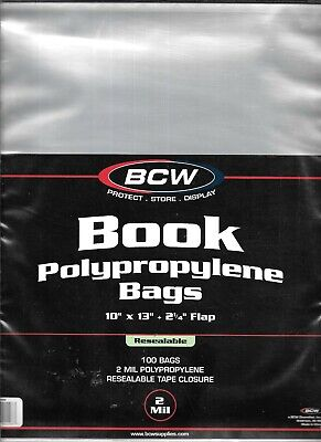 (100) Bcw Resealable Large Magazine - Book Size Size Bags / Covers - Discounts