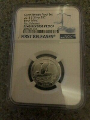 2018 S 25C Block Island From Silver Reverse Proof Set Ngc Pf70 F69 Fr