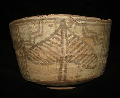 AMAZING!  LARGE PAINTED BOWL WITH TREE OF LIFE!  RARE!  3000BC~~~no reserve