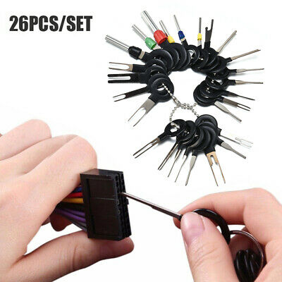 26Pcs Car Terminal Removal Tool Wire Plug Pin Connector Extractor Puller Release