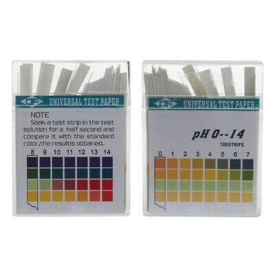 100x 0-14 PH Alkaline Acid Indicator Paper Water Saliva Litmus Testing Kit