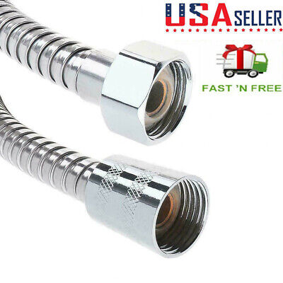 10FT/3M Stainless Steel Shower Head Hose Extra Long  Hand Held Bathroom Flexible
