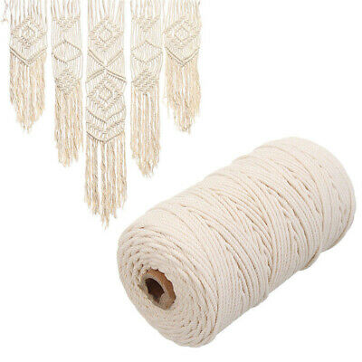 3mm-Macrame-Rope-Natural-Beige-Cotton-Twisted-Cord-Artisan-Hand-Craft-200m AU