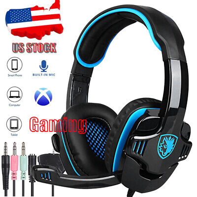 SADES Gaming Headphone Headset Music Stereo SA-708GT Noise Cancellation w/ Mic