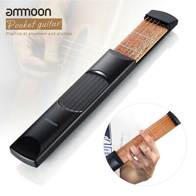 ammoon Portable Pocket Acoustic Guitar Practice Tool Gadget Chord Trainer 6 Fret