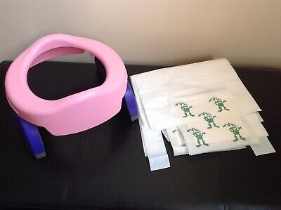 Potette Plus travel potty / Toilet Seat Pink + 8 Liners Holidays Potty Training