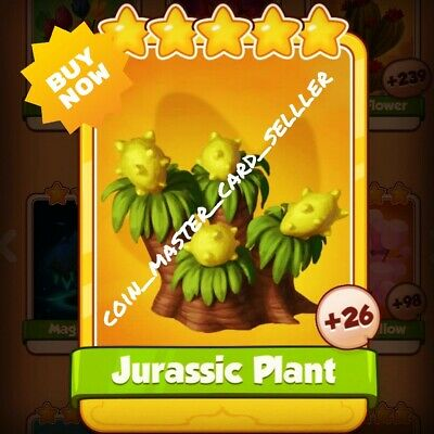 Jurassic Plant Gold Card :- Coin Master ( Fastest Delivery ) Golden Trade
